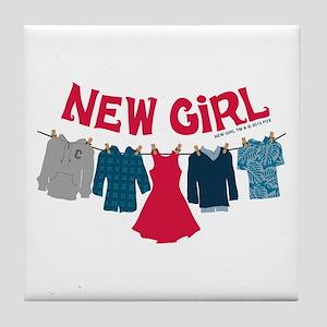 New Girl Laundry Tile Coaster