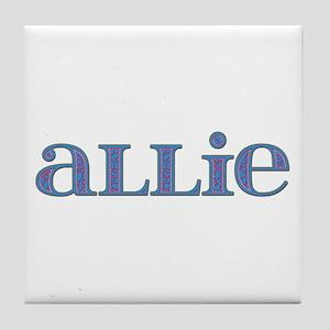 Allie Carved Metal Tile Coaster