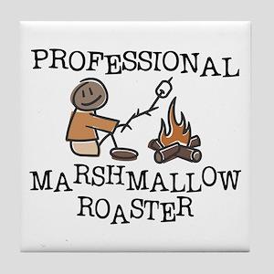 Professional Marshmallow Roaster Tile Coaster