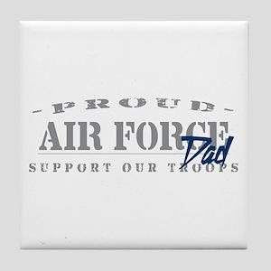 Proud Air Force Dad (Blue) Tile Coaster