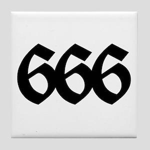 666 Tile Coaster