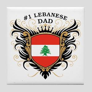 Number One Lebanese Dad Tile Coaster