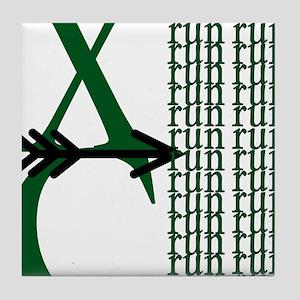XC Run Green Black Tile Coaster