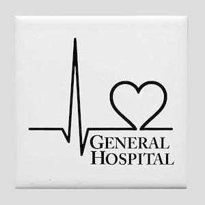 I Love General Hospital Tile Coaster