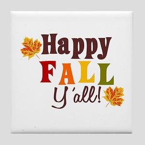 Happy Fall Yall! Tile Coaster
