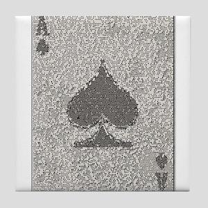 Ace of Spades Mosaic Tile Coaster
