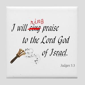 Ring Praise Tile Coaster