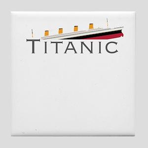 Sinking Titanic Tile Coaster