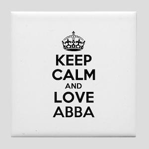 Keep Calm and Love ABBA Tile Coaster