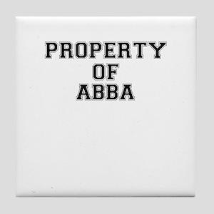 Property of ABBA Tile Coaster