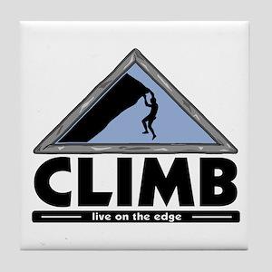 Rock Climbing Tile Coaster