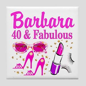 40TH PARTY GIRL Tile Coaster