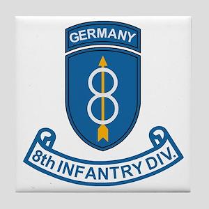 Army-8th-Infantry-Div-6-Bonnie Tile Coaster