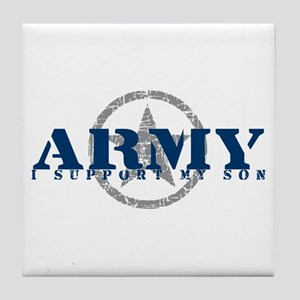 Army - I Support My Son Tile Coaster