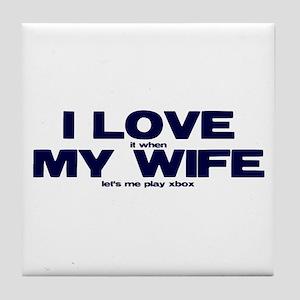 Love my wife Xbox Tile Coaster