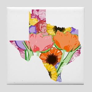 Floral Texas Tile Coaster
