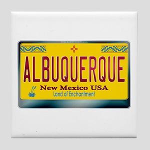 newmexico_licenseplate_albuquerque.pn Tile Coaster