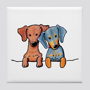 Pocket Doxie Duo Tile Coaster