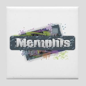 Memphis Design Tile Coaster