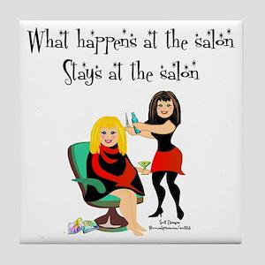 What Happens At The Salon Tile Coaster
