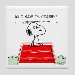 Crabby Snoopy Tile Coaster