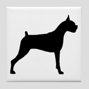 Boxer Dog Tile Coaster