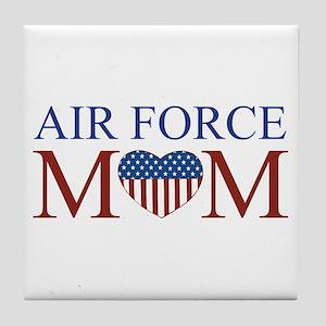 Patriotic Air Force Mom Tile Coaster