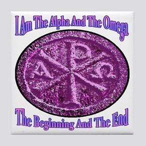 Chi Rho Alpha Omega Tile Coaster