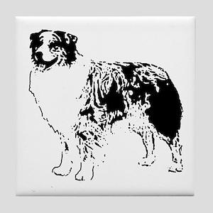 Australian Shepherd Tile Coaster
