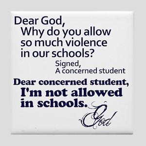Dear God Tile Coaster
