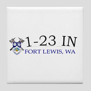 1st Bn 23rd Infantry Tile Coaster