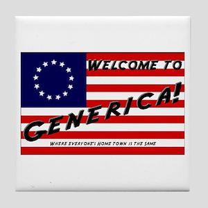 Generica USA Tile Coaster