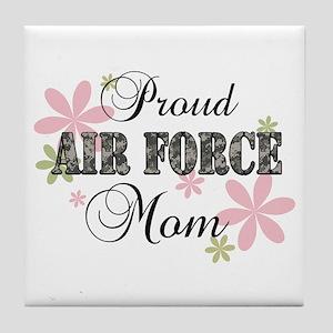 Air Force Mom [fl camo] Tile Coaster