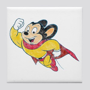 Vintage Mighty Mouse Tile Coaster