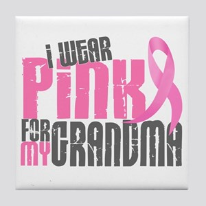 I Wear Pink For My Grandma 6.2 Tile Coaster