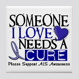 Needs A Cure ALS T-Shirts & Gifts Tile Coaster