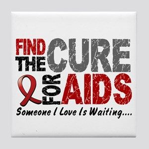 Find The Cure 1 HIV AIDS Tile Coaster