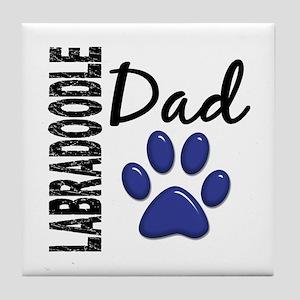 Labradoodle Dad 2 Tile Coaster