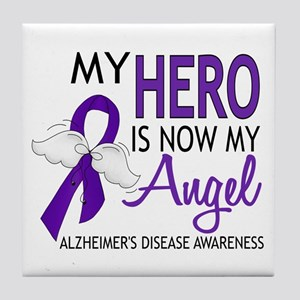 Alzheimers Hero Now My Angel Tile Coaster
