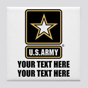 CUSTOM TEXT U.S. Army Tile Coaster