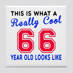 Really Cool 66 Birthday Designs Tile Coaster