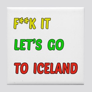 Let's go to Iceland Tile Coaster