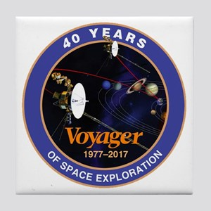 Voyager At 40! Tile Coaster