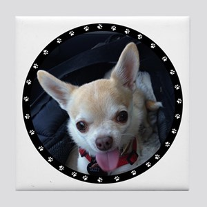 Personalized Paw Print Tile Coaster