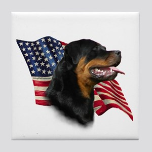 Rottweiler Flag Tile Coaster