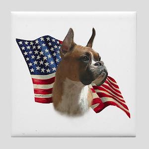 Boxer Flag Tile Coaster