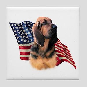 Bloodhound Flag Tile Coaster