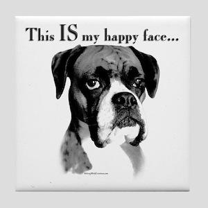 Boxer Happy Face Tile Coaster
