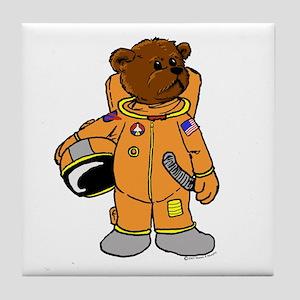 Buzz the Astronaut Bear Tile Coaster