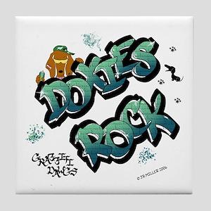 Doxies Rock Graffiti Tile Coaster